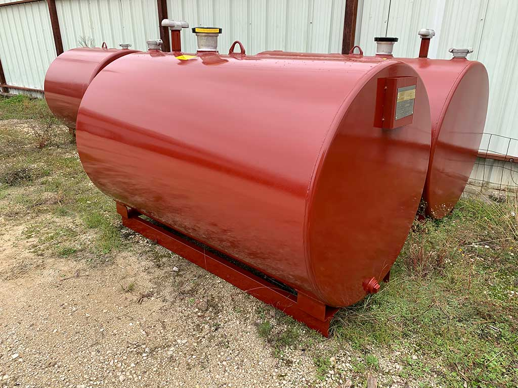 500 gallon UL 142 aboveground single wall fuel storage tank